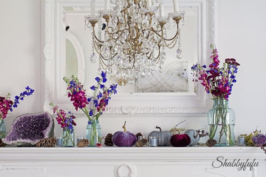 lovefeastshop velvet pumpkins with real stems