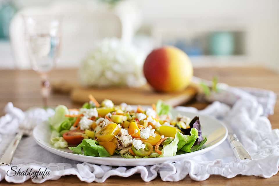 tips for living a healthy lifestyle - mango salad with feta cheese