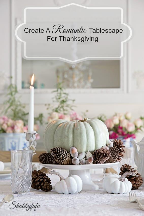 thanksgiving autumn fall romantic tablescape