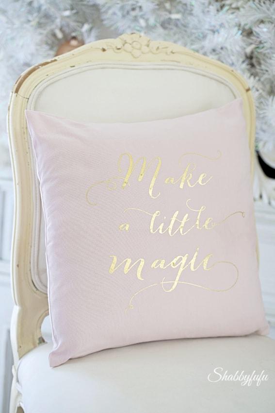 pink christmas pillow