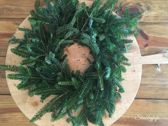 christmas evergreen wreath budget