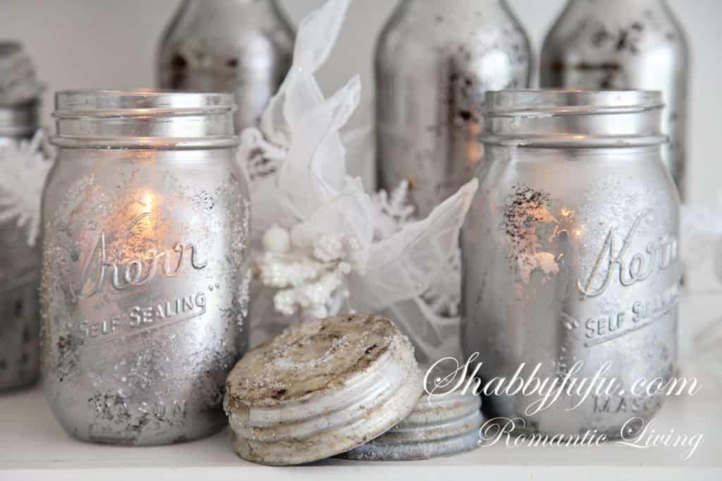 mirrored mason jars