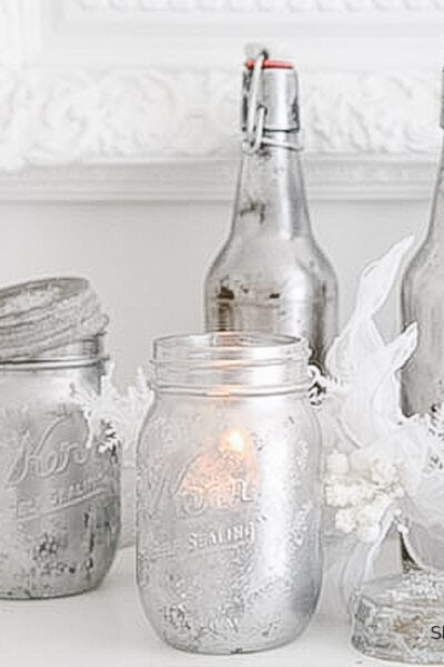 Mercury Glass Mason Jar DIY Tutorial