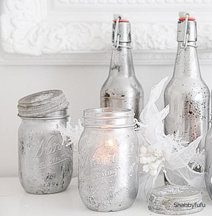 Mercury Glass Mason Jar DIY Tutorial
