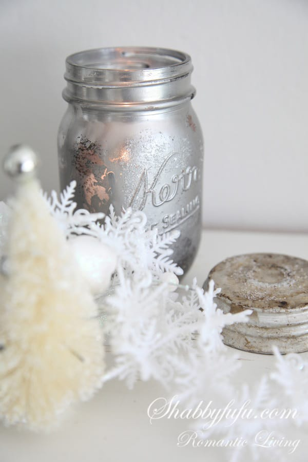 mercury glass mason jar diy