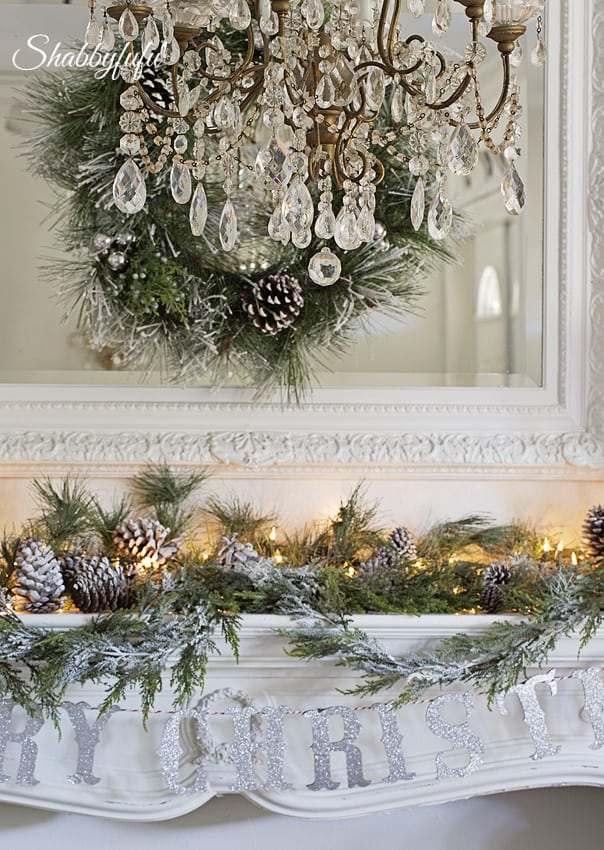 elegant french christmas mantel French decor style