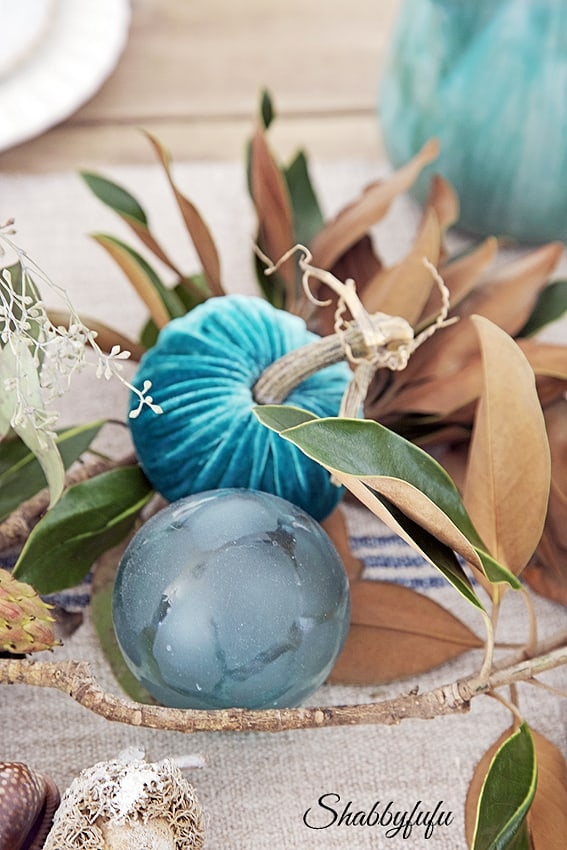 beach floats as table decor