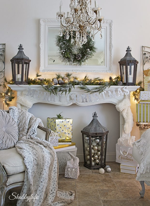 shabbyfufu christmas mantel 2016 French decor style