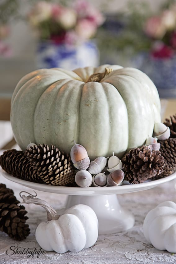 french country fall table centerpiece