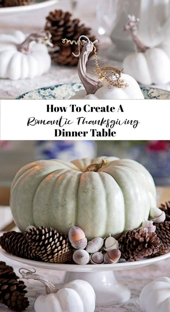 how to create a romantic thanksgiving dinner table