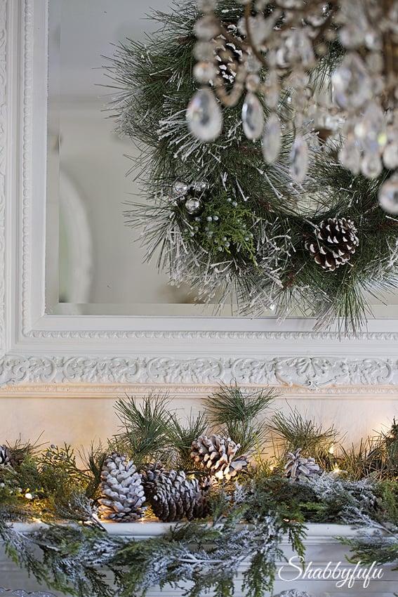 glittered christmas wreath