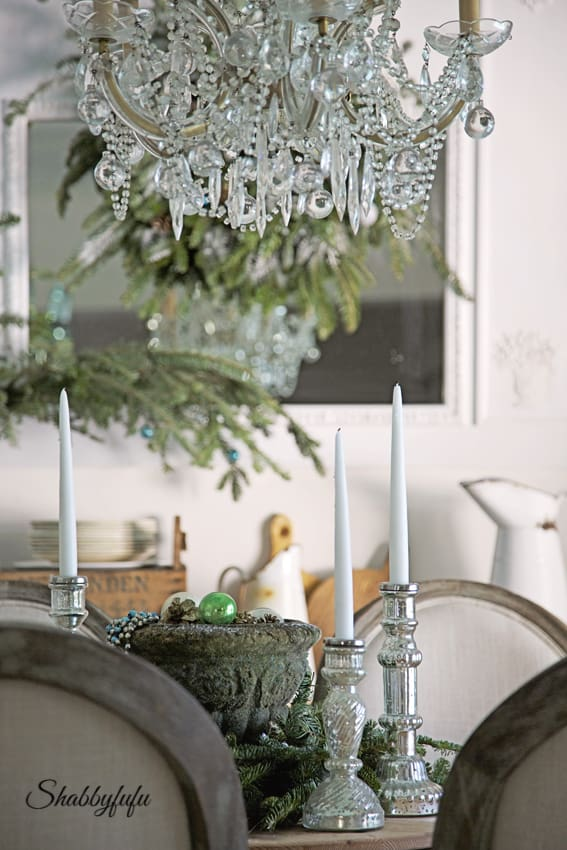 Mercury Glass Candlesticks French Country Style