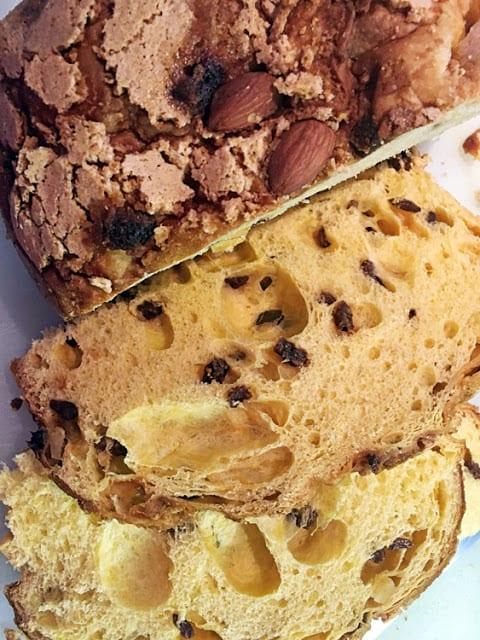 slices pannettone bread