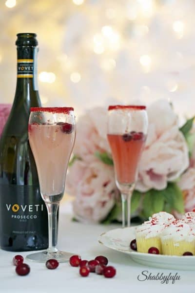 Pink Spritzer Cocktails With Prosecco