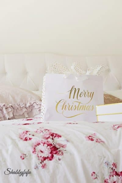 Christmas In The Master Bedroom With A White Tree