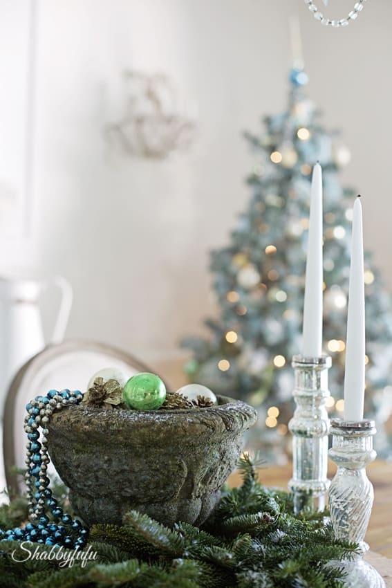 rustic french christmas garden pot