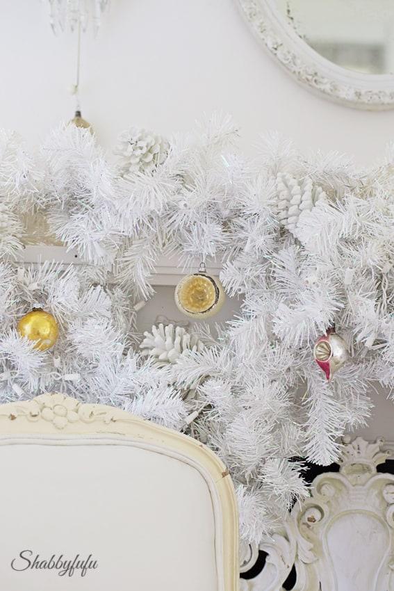 white christmas garland