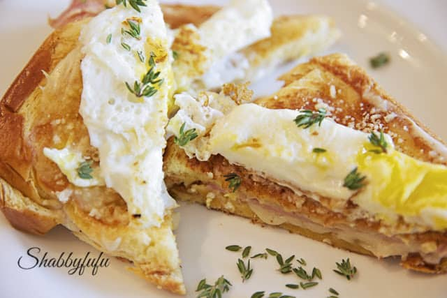 healthy croque madame sandwich recipe