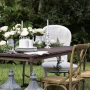 Winter White Outdoor Table Setting