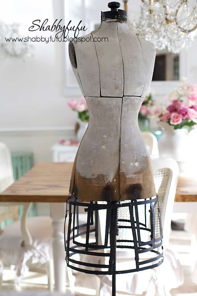 vintage shabby chic mannequin
