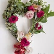 DIY- Valentines Day Floral Heart Wreath