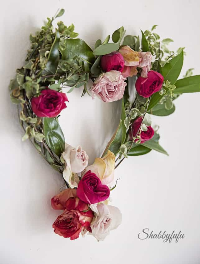 floral wreath valentines day
