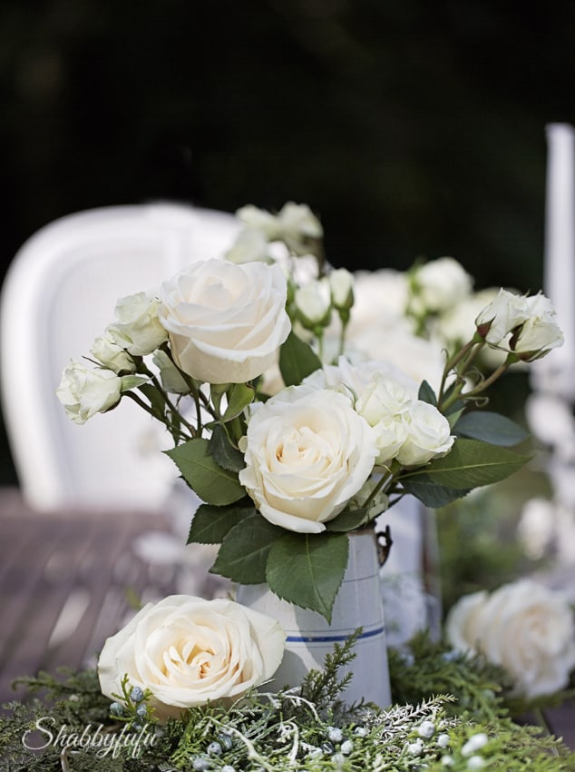 white roses romantic