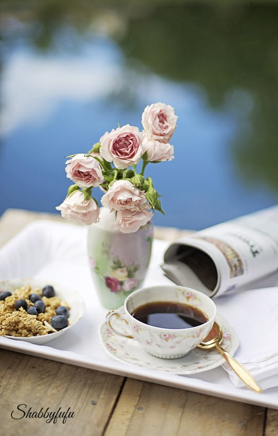 limoges tea cup with roses