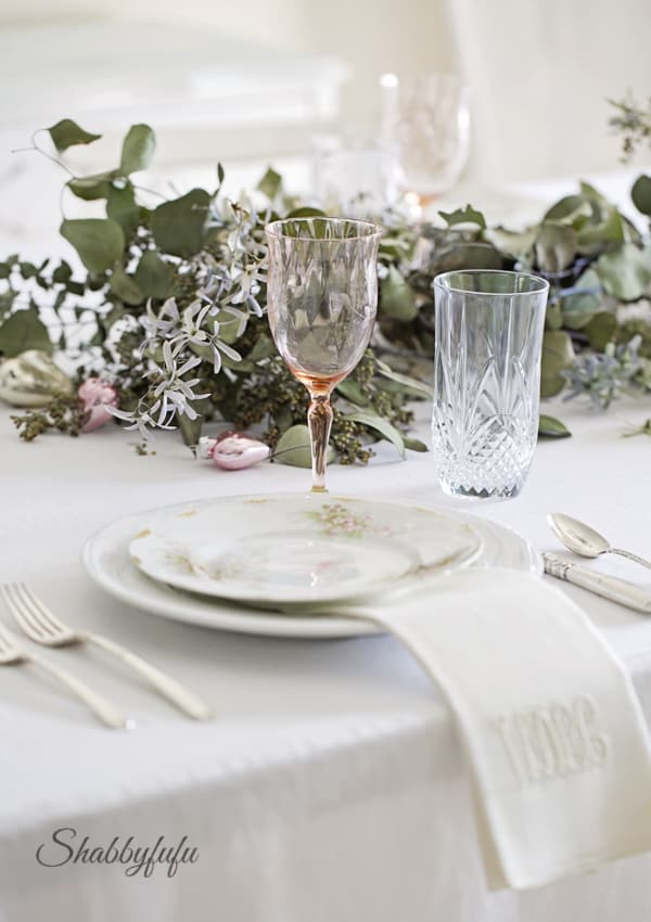 table styling with limoges china