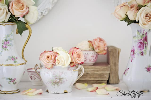flowers in vintage china