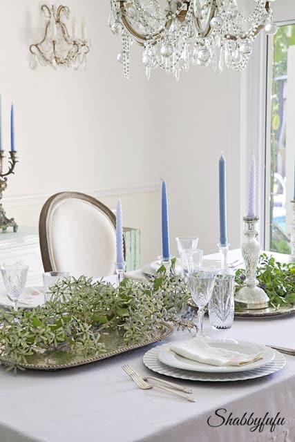 elegant shabby chic table setting