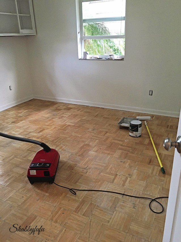 Diy how to paint wood floors like a pro for How to clean paint off wood floors