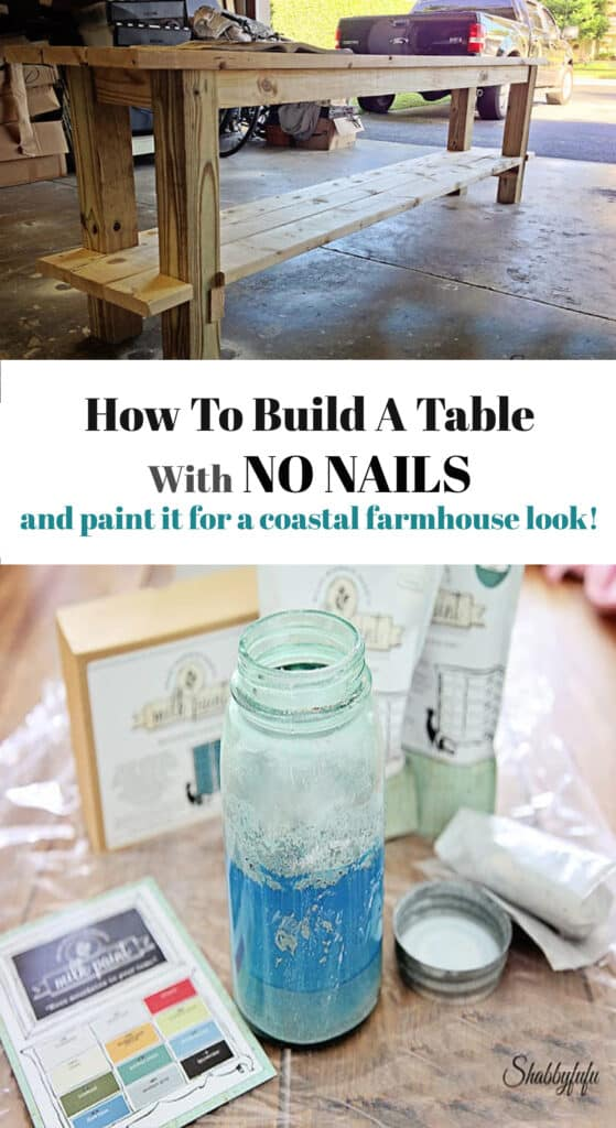 how to build a farmhouse table with no nails