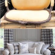 How To Easily Upholster A Sofa {and Paint It}