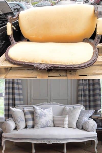 No Sew Reupholster A Sofa