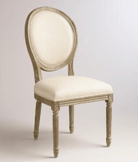 world market paige linen dining chair shabbyfufu blog