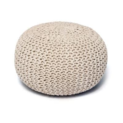 textured ottoman pouf
