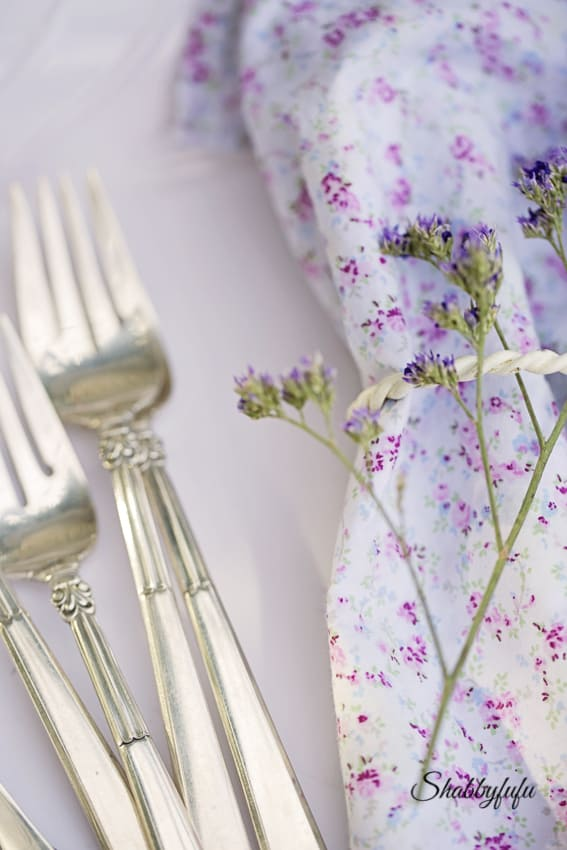 sterling silver flatware shabby chic