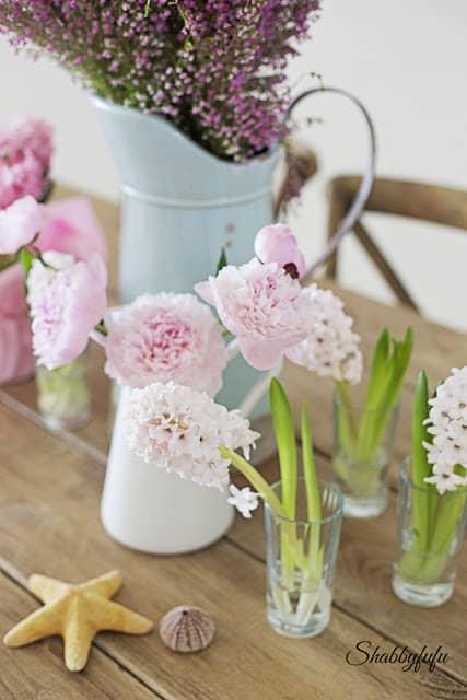 peonies and hyacinth