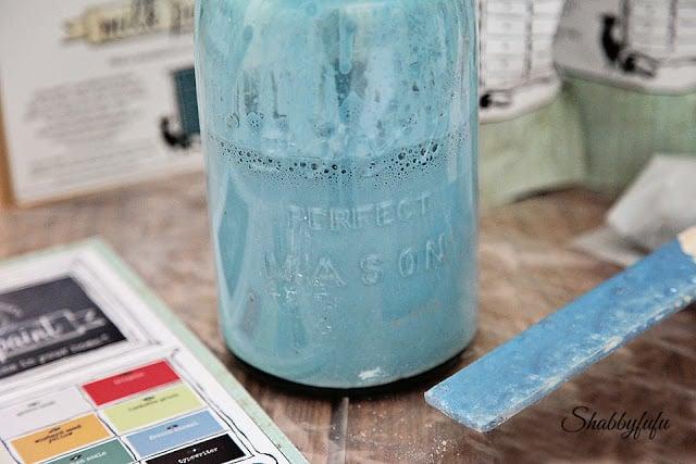 milk paint jar