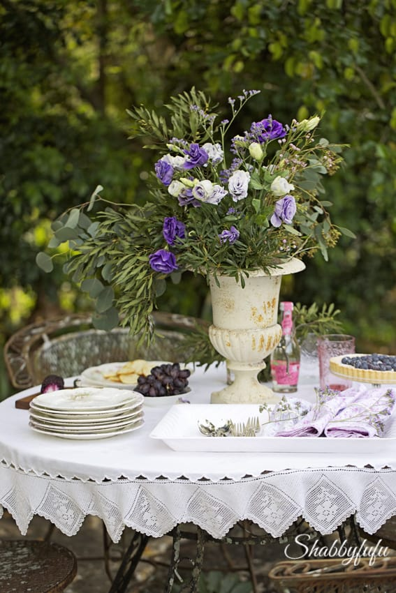 shabbyfufu romantic outdoor entertaining
