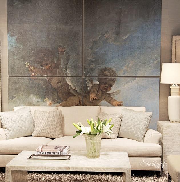bernhardt white sofa