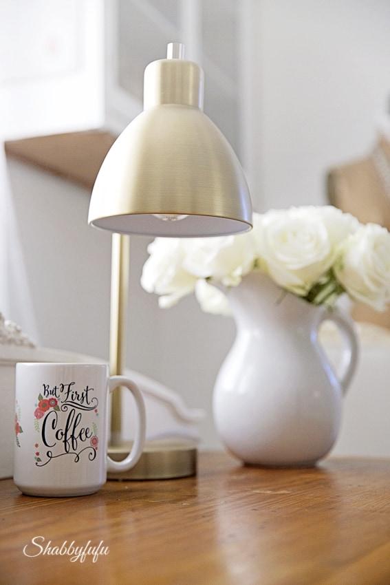 modern calligraphy coffee mug