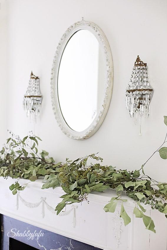 eucalyptus in a flower garland