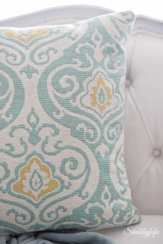 modern aqua pillow