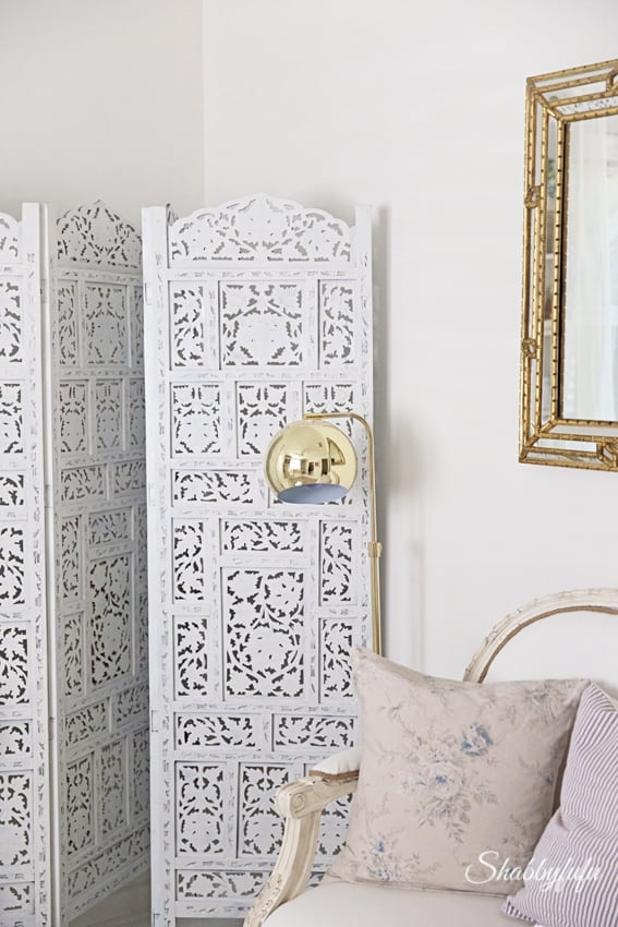 moroccan screens painted white