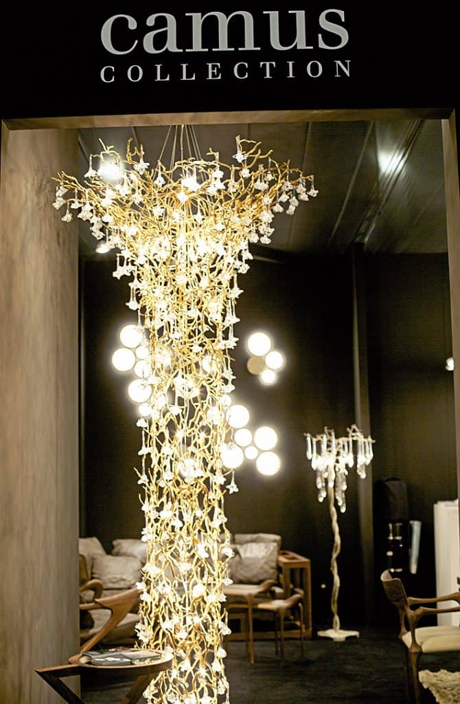 modern cascading chandelier light