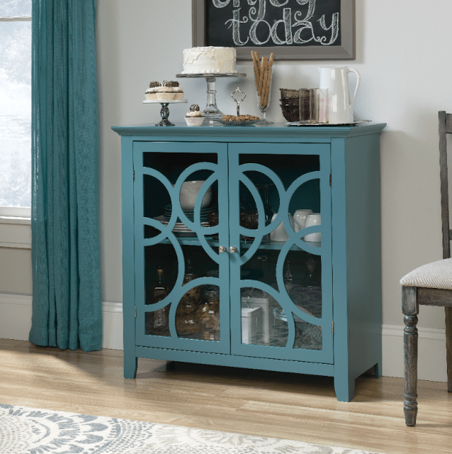 sauder furniture blue cabinet