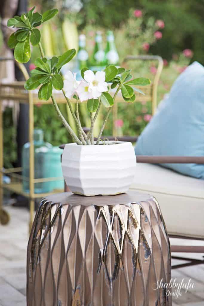 copper garden stool