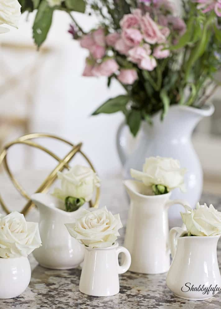 collection of creamware pitchers